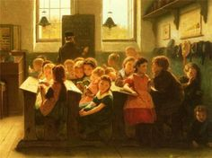 When Teacher's Back Is Turned - Jacob Taanmann (1836 – 1923, Dutch)