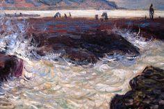 The Rocks at Pourville, Low Tide' - Claude Monet 1882