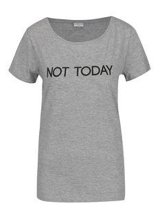 Sivé tričko s potlačou Jacqueline de Yong Chicago Chicago
