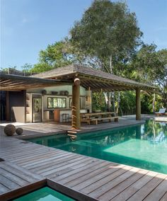 Outdoor Rooms, Outdoor Living, Outdoor Decor, Asian House, Surf House, Rest House, Patio Kitchen, Hawaii Homes, Back Patio