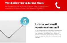Ontvang uw voicemail via de e-mail en blijf zo actueel op de hoogte van uw berichten, bij Vodafone is het mogelijk.