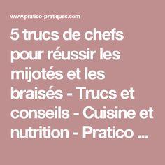 5 trucs de chefs pour réussir les mijotés et les braisés - Trucs et conseils - Cuisine et nutrition - Pratico Pratique