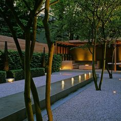 Five of the best small residential gardens | formal minimalist garden by Luciano Giubbilei | www.daisylovesdesign.com