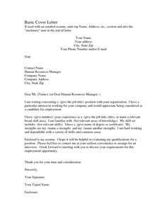 sample of resume and cover letter