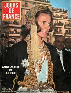 Queen Anne-Marie of Greece Greek Traditional Dress, Traditional Outfits, Constantine Ii Of Greece, Anne Maria, Greek Royalty, Vintage Advertising Posters, Adele, Greek Culture, Casa Real