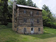 The Ernest Fort-house in Greene County, Tennessee. It was built in 1780s, when Native Americans were a constant threat in the region.  Wiki