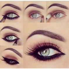 Eyeliner tutorial makeup ❤ liked on Polyvore featuring beauty products, makeup, eye makeup, eyeliner, eyes, beauty and make