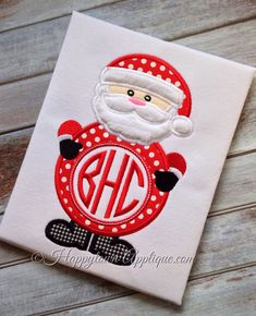 Santa Machine Embroidery Applique Design by HappytownApplique, $4.00