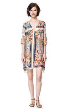 SCARF PRINT TUNIC - Dresses - Woman - ZARA United States
