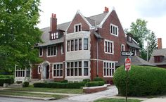 James Couzens House at 610 Longfellow in the Boston-Edison neighborhood of Detroit, MI. The home was designed by architect Albert Kahn, and has ten bedrooms.