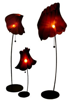 Flown Up, lighting by Frederike Top Design. Flown up is a series of lamps which makes your mind wonder. Due to the lamps shapes and silhouettes they look as if they are blowing in the wind. The perfect amount of atmospheric light gives you a feeling of mystery that strengthens the feeling of enchantment from these lamps.
