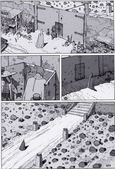 "Moebius - From ""ARZAK Destination Tassili #1- The Return of a Legend"" Special collector black and white edition - Moebius Production, Paris -  Nov. 2009"