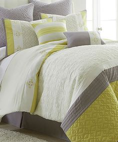 Loving this Yellow St. Luxe Comforter Set on #zulily! #zulilyfinds