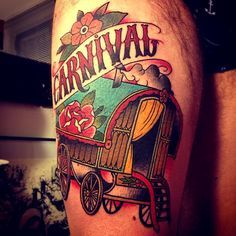 gypsy wagon tattoo