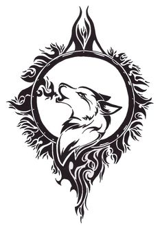 Celtic Howling Wolf Tattoo Design                              …