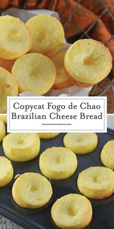 Fogo de Chao Rolls, also known as Brazilian cheese puff bread, are easier to make at home than you think. This gluten-free bread is also yeast free and only takes 30 minutes! Gluten Free Recipes, Keto Recipes, Cooking Recipes, Healthy Recipes, Yummy Recipes, Fudge Recipes, Bread Recipes, Scone Recipes, Empanadas