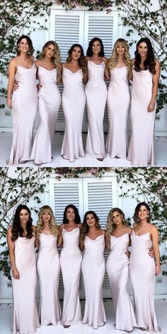 8fcc49a665 Floor-length Mermaid Spaghetti Straps Simple Cheap Bridesmaid dresses
