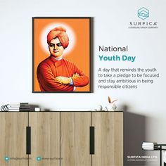 A day that reminds the youth to take a pledge to be focused and stay ambitious in being responsible citizens National Youth Day..! #Surfica #Surficalam #Laminates #laminate #laminatescollection #LaminatesDesign #BestLaminates #LuxuryLaminates #LaminateCollection #LaminateSheet #NationalYouthDay #YouthDay #VivekanandJayanti #SwamiVivekanand #YouthDayOfIndia