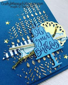 Stampin' Up! Celebration Time Birthday Card With Gold Embossing Paste