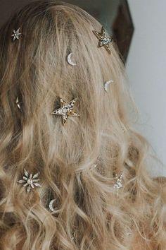 Michelletakeaim Coachella Hair and Makeup Ideas Stars in Hair # 2 - . - Michelletakeaim Coachella Hair and Make-up Ideas Stars in Hair # 2 – - Hair Day, My Hair, Curly Hair, Hair Inspo, Hair Inspiration, Fashion Inspiration, Pretty Hairstyles, Wedding Hairstyles, Hairstyles Videos