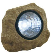 Moonrays 91211 Solar Rock Light with Key Compartment Durable realistic-looking polyresin rock Uses 3 white LED lights Rechargeable AA NiCd battery (included) Secret key compartment hidden in bottom of rock Low Voltage Outdoor Lighting, Outdoor Lighting Landscape, Solar Rock Lights, Outdoor Statues, Landscaping With Rocks, Outdoor Landscaping, Backyard Patio, Landscaping Ideas, White Led Lights