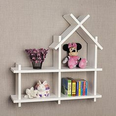 Danya B House Design White Wall Mount Shelf *** See this great product.Note:It is affiliate link to Amazon.