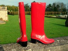 My super shiny JuJu high heel pvc wellies | My super shiny J… | Flickr