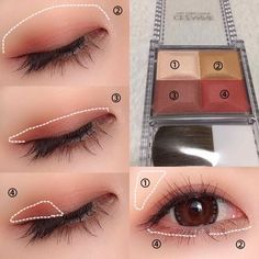 Wonderful Completely free Korean makeup eye Strategies, Start by choosing three different colors delaware Manhunter same range that combine between them. The primary color is Manhunter shadow that will mark your search, you need a darker shade for r . Korean Makeup Look, Korean Makeup Tips, Asian Eye Makeup, Korean Makeup Tutorials, Natural Eye Makeup, Natural Beauty, Cute Makeup, Beauty Makeup, Makeup Utensils
