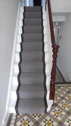 Victorian hallway, grey runner