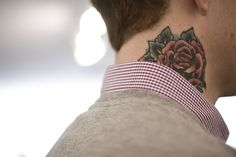 normally I hate neck tattoos, but this one is gorgeous for men!