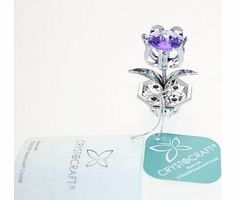 CRYSTOCRAFT  Keepsake Gift Ornament - Tulip Blue/Violet with Swarvoski Crystal Elements This beautiful blue tulip design ornaments silver plated with swarovski elements. It would make the perfect gift for any lady. Dimensions: 5cm x 3cm x (Barcode EAN = 5017224345027) http://www.comparestoreprices.co.uk/ornaments/crystocraft-keepsake-gift-ornament--tulip-blue-violet-with-swarvoski-crystal-elements.asp