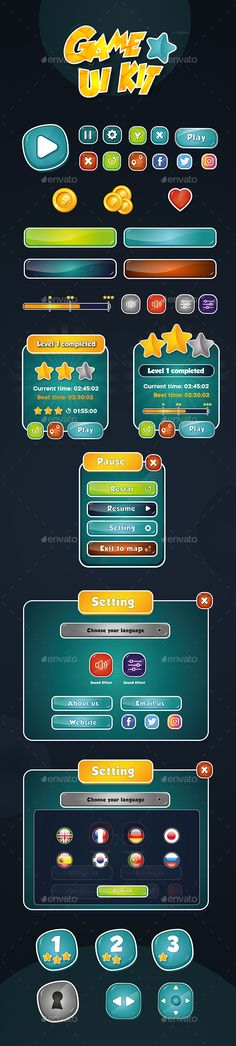622 Best Royalty Free Game User UI Templates - Game Assets