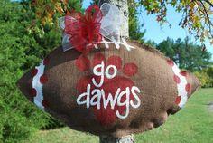 GO WCHS DAWGS!!!!  Burlap Door Hanger. $30.00, via Etsy.