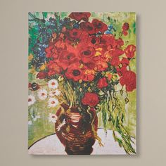 You'll love the Red Poppies & Daisies by Van Gogh Canvas Giclee Print at Wayfair - Great Deals on all Décor  products with Free Shipping on most stuff, even the big stuff.