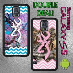 Double Deal Chevron Buck Bow Pink Camo Samsung Galaxy S5 case box skin Country in Cell Phones & Accessories   eBay