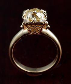 Custom Yellow Diamond Illusion Ring by Hunt Country Jewelers   CustomMade.com