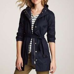 J.Crew Matinee Trench Navy blue with silver detailing. Super comfy and cute. Amazing quality and sold out! Cheaper on ️️. Priced high to lower for discounted shipping. Offers welcomed. J. Crew Jackets & Coats Trench Coats