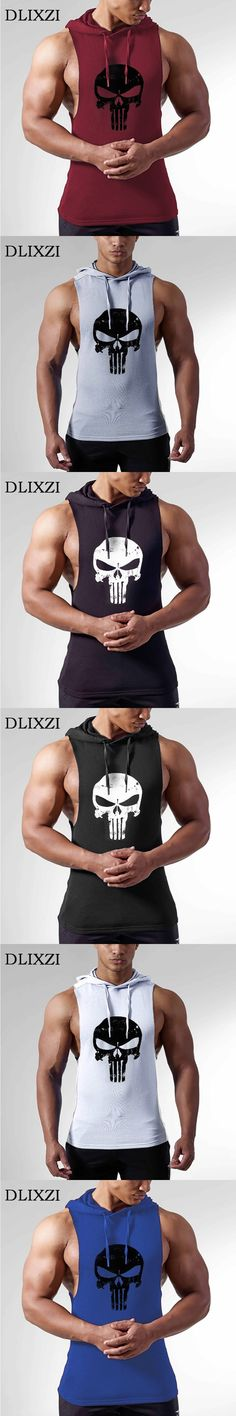 punisher 3d print sleeveless gyms hoodie fashion skull summer male vest workout tank top bodybuilding clothing brand singlet men