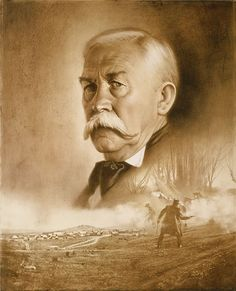 Virgil Earp Day of Decision by western artist Don Crowley gunfighters Real Cowboys, Cowboys And Indians, Virgil Earp, Old West Outlaws, Tombstone Arizona, Wyatt Earp, American Frontier, Cowboy Art, Le Far West