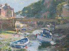 Glancing evening sun, Staithes Beck
