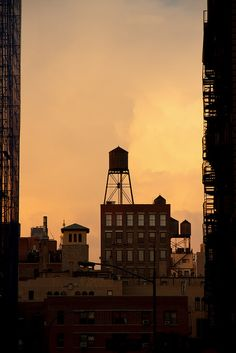 water tower, very nyc, for photoshoot ideas
