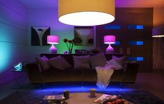 Philips on Monday announced that its Hue intelligent lighting ecosystem will be compatible with Apple's HomeKit smart home platform starting this fall. Philips Hue Lampe, Phillips Hue, Best Smart Home, Dj Lighting, Indirect Lighting, Bedroom Lighting, Video Lighting, Internet Of Things, Led Lamp