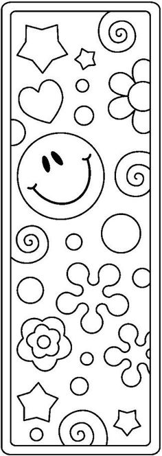 bookmark clipart black and white Coloring Book Pages, Printable Coloring Pages, Coloring Sheets, Bookmarks Kids, Crochet Bookmarks, Smiley T Shirt, Learn To Sketch, Kids Library, Art Lessons