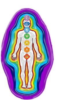 7 layers of the aura, 7 chakras. Eating colorful foods to feed each layer...