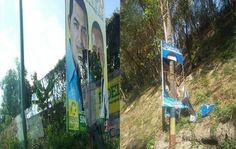 La dirección municipal del principal partido de oposición pidió a la Junta Municipal Electoral garantizar que se respete la propaganda visual de Osvaldo