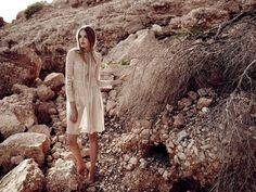 Neutral State – Photographer David Cohen de Lara captures Ania Yudina in a wardrobe of lightweight pieces featuring neutral shades ranging from eggshell to nude. With art direction by Bianca Manzana de Agustin, Ania poses on the Spanish coast, wearing ethereal selects from the likes of Yolanda Cris, Gori de Palma and Andrés Sarda styled …