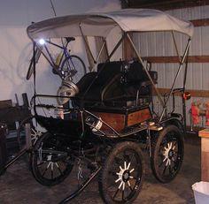 bimini top on a horse drawn wagon