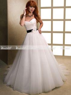 http://www.dressescomeon.com/a-line-floor-length-sweetheart-sleeveless-black-blet-flower-appliqued-white-tulle-wedding-dresses-for-sale.html