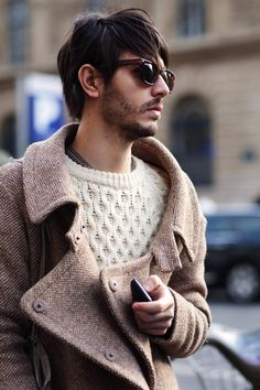 Coat and knit