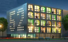 The Alphabet Building is a office building under construction in Amsterdam whose facade will consist of letters of the alphabet. The letters correspond to Architecture Cool, Cabinet D Architecture, Amsterdam Architecture, Ningbo, Creative Office Space, Inspiration Design, Environmental Graphics, Beautiful Buildings, Green Building